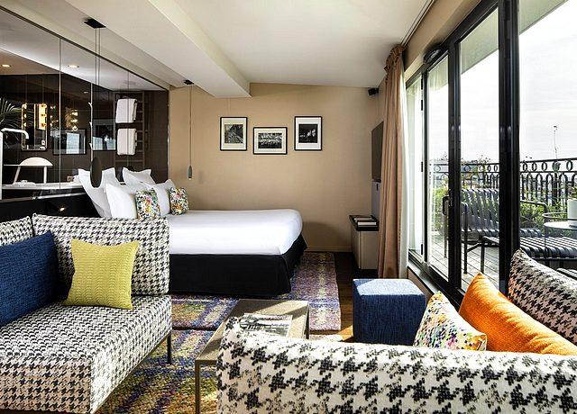chambre avec jacuzzi privatif sur paris Terrass hotel