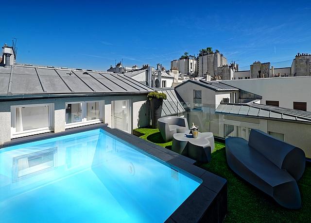 chambre avec piscine privée à paris hotel 1k paris