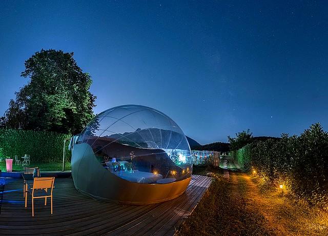 dormir dans une bulle proche lyon bulle de savoie spa jacuzzi