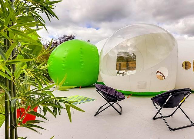 dormir dans une bulle près de paris chez les bulles de fleury