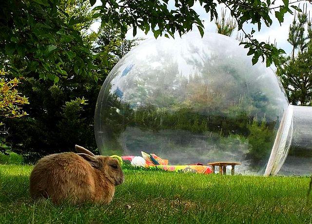 dormir dans une bulle proche de paris à la bulle des champs