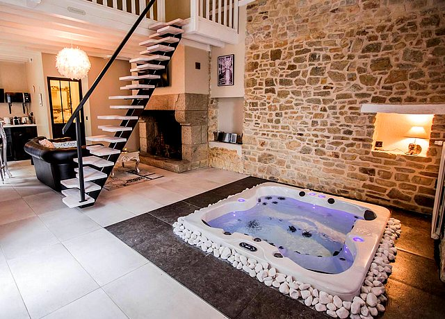 Chambre avec jacuzzi privatif proche de Nantes au Domaine des Anges