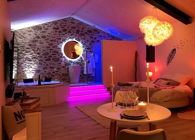 Chambre avec jacuzzi privatif proche de Nantes à l'Idile Noirmoutier