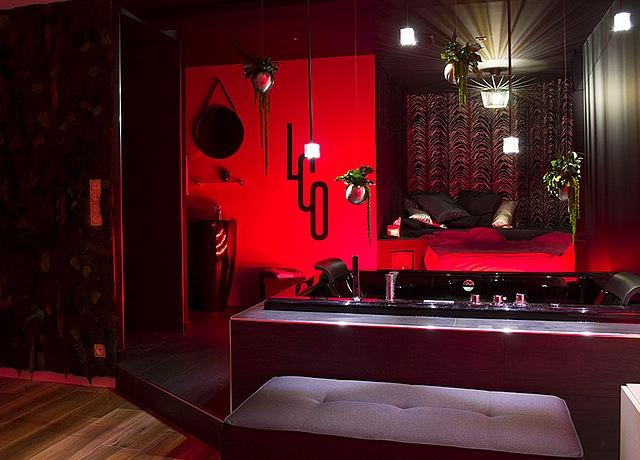 chambre avec jacuzzi privatif à Nantes à Le Clair Obscur