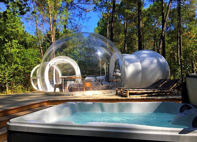 Dormir dans une bulle sur Bordeaux aux Bulles de Bordeaux