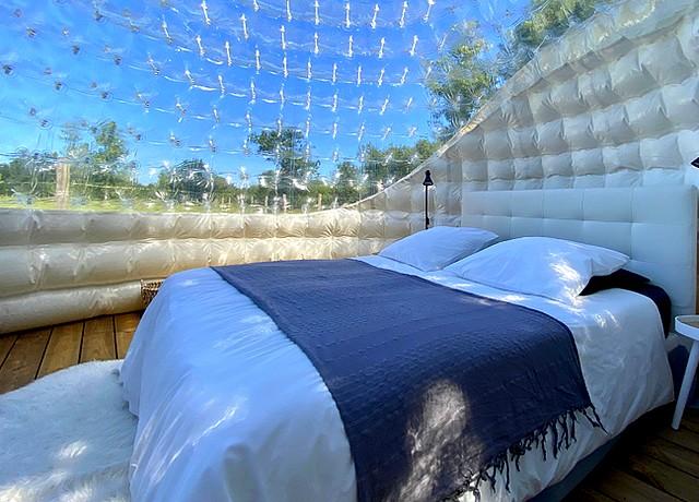 Dormir dans une bulle à Nantes au Gites de la Belle Etoile