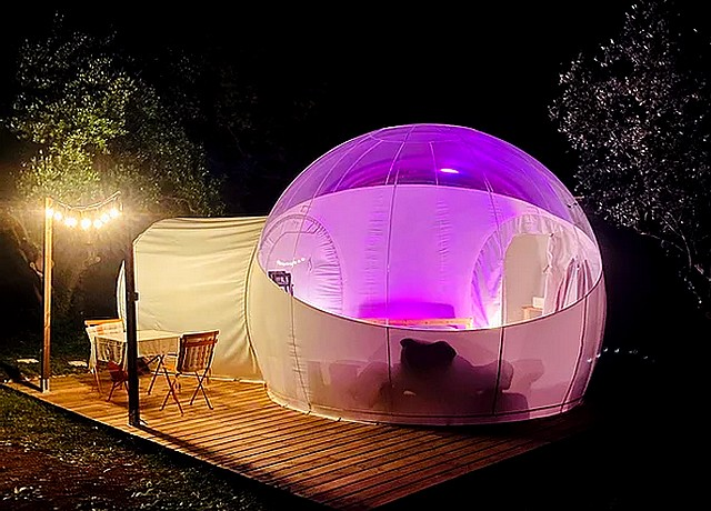 Dormir dans une bulle près de Nice à la Bubble Dream