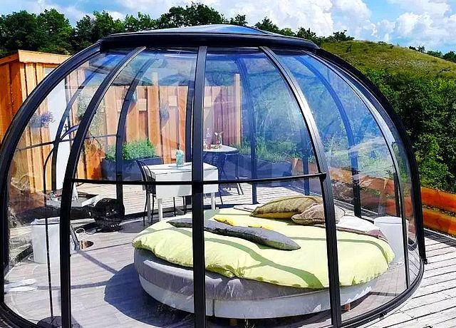 Dormir dans une bulle proche de Toulouse chez Les Gouttes d'Eau