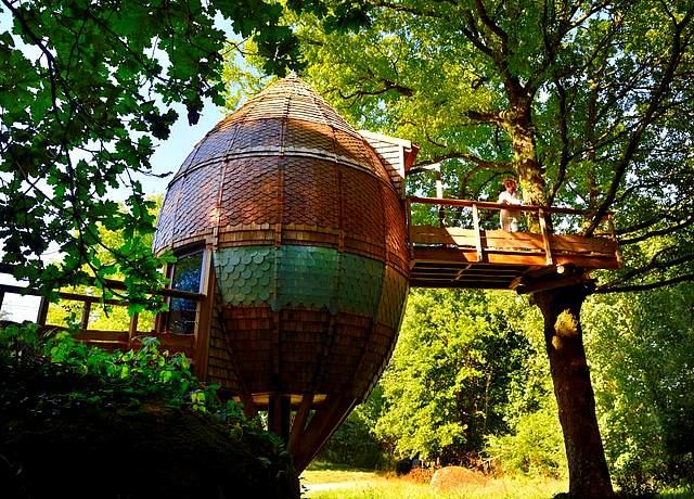 Dormir dans une cabane dans les arbres proche de Nantes à la Chrysalide de Terragora Lodge