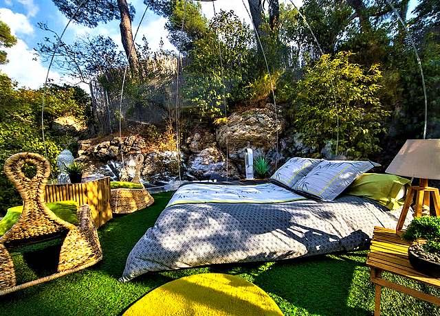 Dormir dans une bulle à Marseille à Attrap'Rêves Allauch