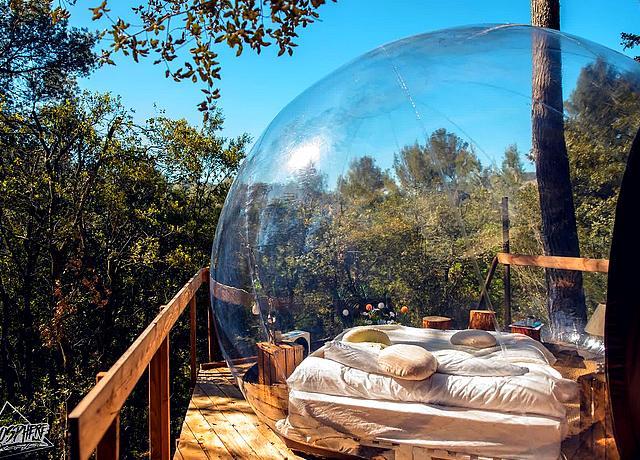 Dormir dans une bulle sur Marseille à l'Attrap'Rêves La-Bouilladisse