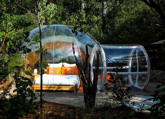 Dormir dans une bulle sur Marseille aux Bulles des Bois