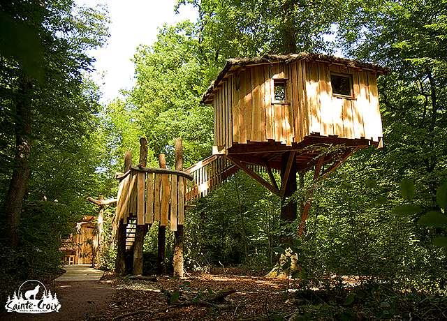 Dormir dans une cabane dans les arbres près de Strasbourg au Parc Sainte-Croix